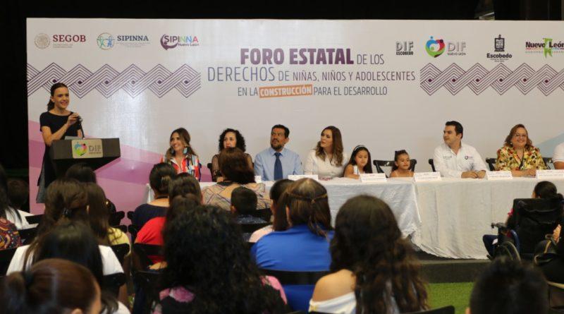 Va Escobedo por desarrollo y protección de derechos de los niños; realiza foro con DIF Nuevo León